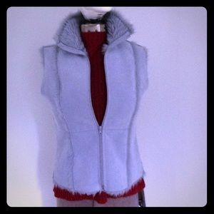 S Faux Fur Shearling Periwinkle Vest Fun Warm